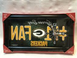 #1 Green Bay Packers Fan- Quartz-Wall Or Standing Clock-NIB