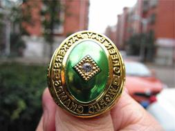 1961 GREEN BAY PACKERS Championship Ring 18k GOLD PLATED Sz.