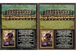 1965 NFL Champion Green Bay Packers Photo Card Plaque