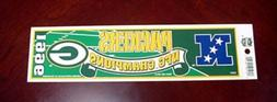 1996 GREEN BAY PACKERS NFC CHAMPIONS BUMPER STICKER UNSOLD S
