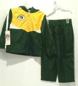 2-Pc. Set NFL Team Apparel Kids 3T Green Bay Packers Lined W