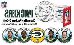 2009 GREEN BAY PACKERS Wisconsin STATE QUARTER NFL 5-COIN SE