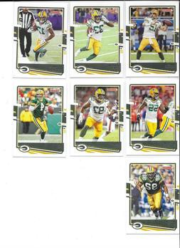 2020 Donruss Football Green Bay Packers Base Team Set 7 Card