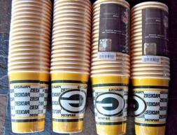 80 Paper Party Cups - Green Bay Packers - 4 Packs of 20