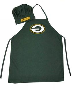 NFL Green Bay Packers Chef Hat and Apron Set, Green, One Siz