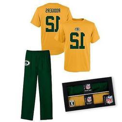 Aaron Rodgers Green Bay Packers Sleepwear Pajama 2 pc Set -