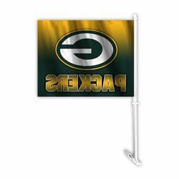 Auto Car Window Flag Logo License Products Sport - NFL Green