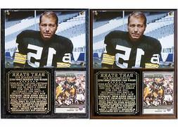Bart Starr #15 Green Bay Packers Photo Card Plaque Super Bow