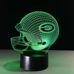 Green Bay Packers 3D LED Lamp Aaron Rodgers Home Decor Gift