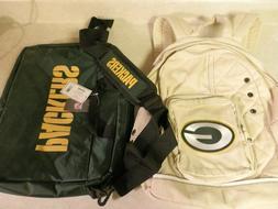 COMBO LOT Green Bay Packers Football Backpack Book Sak & Lap
