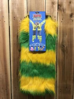 Fuzzy Fan Leg Warmers Green Bay Packers Themed New Tailgatin