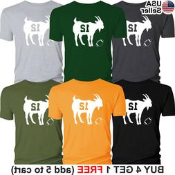 GOAT T-Shirt Aaron Rodgers 12 Green Bay Packers Jersey Tee G