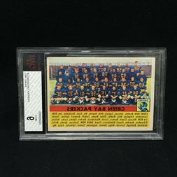 GREEN BAY PACKERS 1956 TOPPS TEAM CARD #7 GRADED EX-MT BGS B