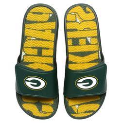 Green Bay Packers 2020 NFL Men's GEL Slide On Sandal FREE SH