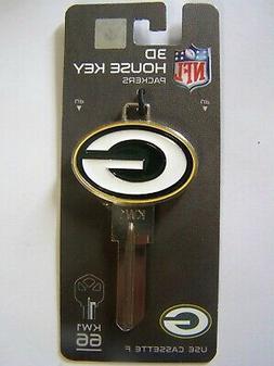 Green Bay Packers 3D Kwikset house key blank  KW1