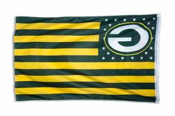 Green Bay Packers 3x5 Foot American Flag Banner New