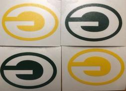 "Green Bay Packers 4 Pack Of Decals 1.5x2.25"" Vinyl Sticker *"