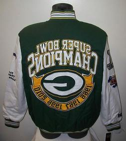 GREEN BAY PACKERS 4 Time Super Bowl CHAMPIONSHIP Twill Jacke