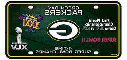 Green Bay Packers 4X Super Bowl Champions Aluminum License P