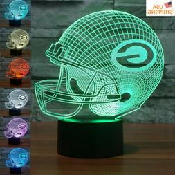 GREEN BAY PACKERS 7 Colour Night Light 3D LED Touch Table De