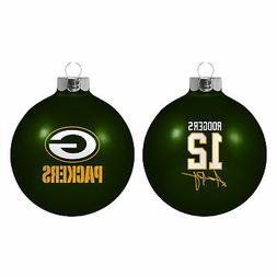 Green Bay Packers Aaron Rodgers NFL Boelter Glass Christmas