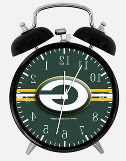 "Green Bay Packers Alarm Desk Clock 3.75"" Room Office Decor E"