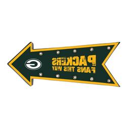Green Bay Packers Arrow Marquee Sign - Light Up - Room Bar D