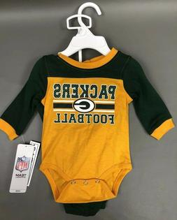 Green Bay Packers Baby Creeper Pant Set Boy Girl Unisex 0-3