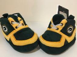 green bay packers baby sneaker booties slipper
