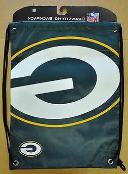Green Bay Packers Back Pack/Sack Drawstring Bag/Tote NEW Bac