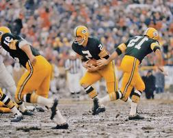 Green Bay Packers BART STARR JIM TAYLOR and PAUL HORNUNG Glo
