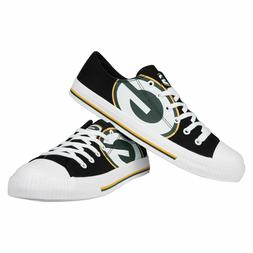 Green Bay Packers Big Logo Low Top Sneakers Shoes Men's Size