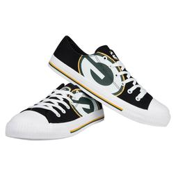 Green Bay Packers Big Logo Low Top Sneakers Team Color Shoes
