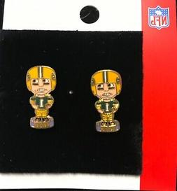 Green Bay Packers Bobblehead Stud Earrings NEW