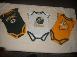 Green Bay Packers NFL Team Apparel Bodysuit Creeper Set Infa