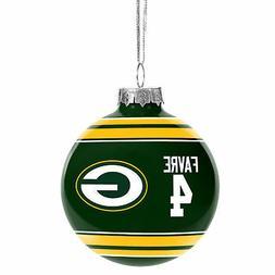 Green Bay Packers Brett Favre #4 Legend Glass Christmas Orna