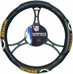 Green Bay Packers Car Truck Black Steering Wheel Cover NFL