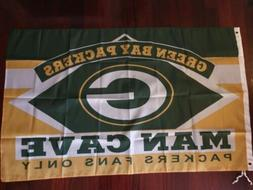 Green Bay Packers Cave 3x5 Flag. US seller. Free shipping wi