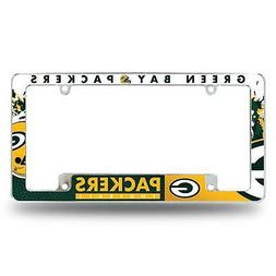 Green Bay Packers Chrome License Plate Frame All Over Tag Co