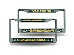 Green Bay Packers Chrome Metal  Bling License Plate Frame Se