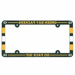 GREEN BAY PACKERS COLOR CAR AUTO PLASTIC LICENSE PLATE TAG F