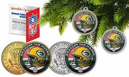 GREEN BAY PACKERS Colorized JFK Half Dollar 2-Coin Set NFL C
