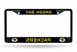 Green Bay Packers CUSTOM BLACK LBL Frame Metal Chrome Licens