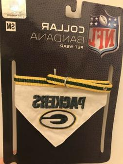 Green Bay Packers Dog Collar Bandana SMALL NFL Licensed Pet