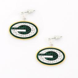 GREEN BAY PACKERS, Earrings Crystal, Jewelry, SPARKLE & SHIN