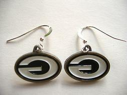 GREEN BAY PACKERS Earrings, NFL Jewelry Pewter Charm, Sterli