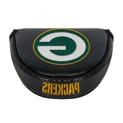 GREEN BAY PACKERS EMBROIDERED LOGO BLACK PUTTER MALLET COVER
