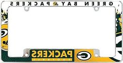Green Bay Packers EZ View All Over Chrome Frame Metal Licens