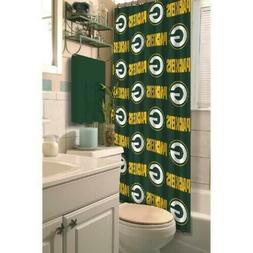 green bay packers fabric bath shower curtain