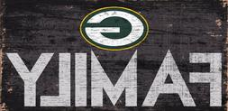 """Green Bay Packers FAMILY Football Wood Sign - NEW 12"""" x 6"""""""